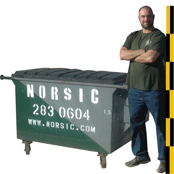 1.5 Cubic Yard Combo Load Dumpster