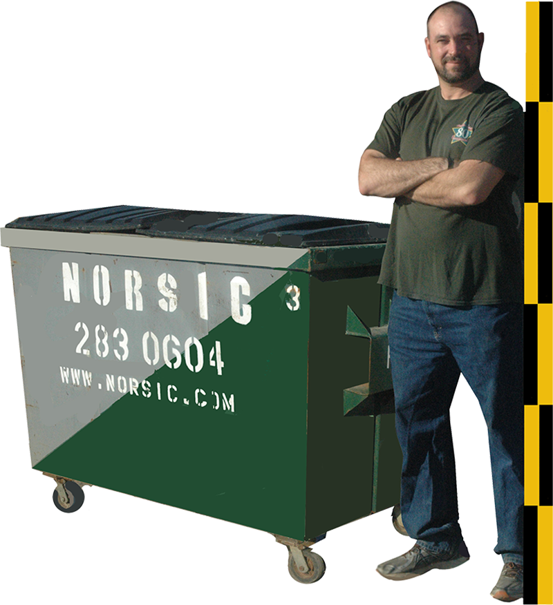 3 Cubic Yard Front Load Dumpster
